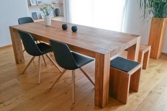 Schöne Holztische ihr esstisch nach maß gefertigt und aus hochwertigem massivholz