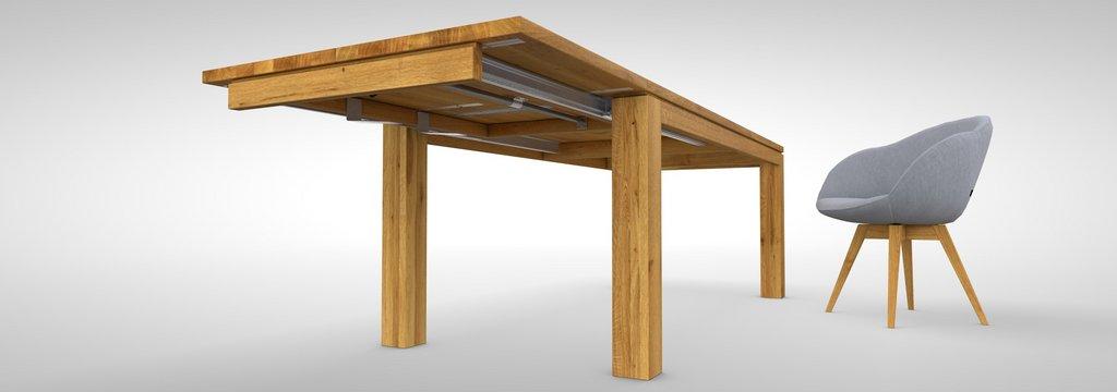 Massivholztische holztische esstische tisch nach ma for Auszugstisch holz